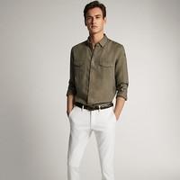 Massimo Dutti 00147147500 男士双口袋设计衬衫