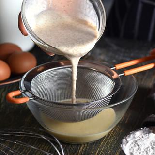 厨氏 不锈钢手持面粉筛14cm 糖粉筛 家用过滤筛网 超细豆浆筛