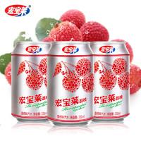 宏宝莱 荔枝味汽水 330ml*6罐