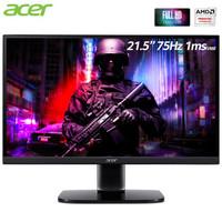 宏碁(Acer)21.5英寸75Hz刷新FreeSync窄边框全高清电竞显示器(双HDMI自带音箱)畅玩吃鸡KA222Q