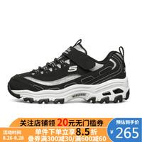 斯凯奇 SKECHERS 斯凯奇2020女童潮流时尚熊猫老爹运动鞋664151L 黑色 35