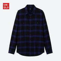 UNIQLO 优衣库 421201 男士法兰绒格子衬衫