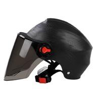 哈旅 摩托车头盔 半盔 配茶色镜