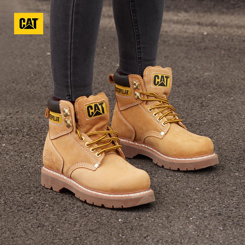 CAT卡特女鞋经典黄靴女透气防滑防水耐磨休闲靴马丁靴女专柜同款