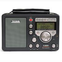 德生(Tecsun) S-8800高灵敏度全波段数字调谐立体声遥控功能收音机 黑