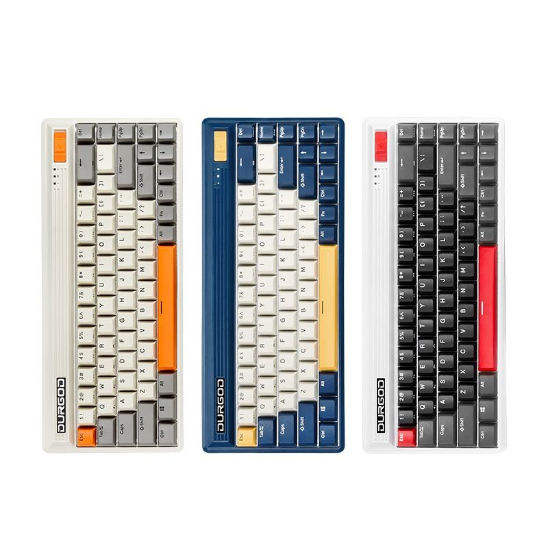 DURGOD 杜伽 FUSION 68键 蓝牙/2.4G/Type-C三模 机械键盘 Cherry轴