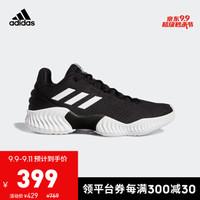 阿迪达斯官网 Pro Bounce 2018 Low 男子篮球场上运动鞋FW5747 一号黑/白/一号黑 43(265mm)