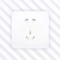 aigo 爱国者  TQA105 白色正位五孔插座