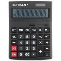 SHARP 夏普 CH-G12 12位大号太阳能办公商务计算器 黑色 +凑单品