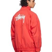 新品发售:NIKE 耐克 stussy合作款 男士红色长袖尼龙外套