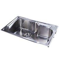 再降价:KOHLER 科勒 K-77160-2S-NA 不锈钢水槽台上厨盆