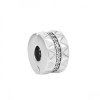 PANDORA 潘多拉 798067CZ 闪亮锯齿线925银串饰