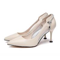 唯品尖货:RED DRAGONFLY 红蜻蜓 WFV00662 女鞋 网纱百搭 细跟高跟鞋