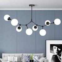 双11预售:OPPLE 欧普照明 现代新潮枝型吊灯 黑色 8头吊灯