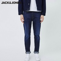 JACK JONES 杰克琼斯 219332538 棉弹直筒牛仔裤