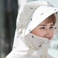 9·9樱花汇  P2023-w  蘑菇印花中长款防晒衣