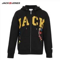 杰克琼斯&JeremyScooutletstt联名系列 219433510 拼接布贴开衫卫衣