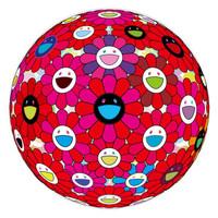 艺术品:村上隆3D立体太阳花球 正版版画限量300版日本直邮 展览级手工装裱