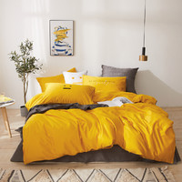 Dohia 多喜爱 60支长绒棉轻奢三件套 复古黄 1.2m
