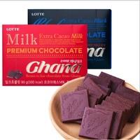 百亿补贴:乐天 加纳牛奶巧克力 90g*3盒
