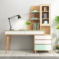 HUANASI 华纳斯 北欧创意可伸缩书桌书柜组合