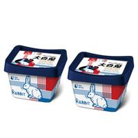 限地区、京东PLUS会员:光明 大白兔冰淇淋 70g*2杯  *6件
