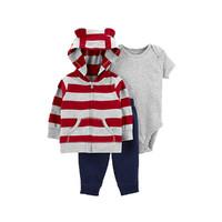 Carter's 孩特 婴儿恐龙连帽外套长裤连身衣3件套(59cm-90cm)