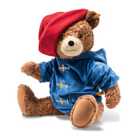 德国Steiff毛绒玩具安抚陪伴玩偶帕丁顿熊棕色 60cm 690372