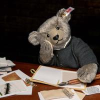 德国Steiff毛绒玩具Richard限量1902只收藏礼物布偶泰迪熊深灰色 32cm 006845