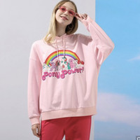 班尼路 88003614R98 女款时尚粉色卫衣