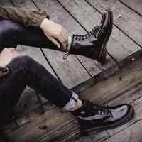 马克华菲 799496049028 男女款中高帮马丁靴