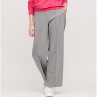 限大码:UNIQLO 优衣库 425341 女士高腰宽腿长裤
