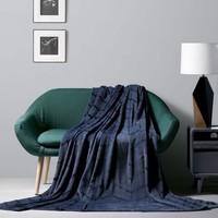 唯品尖货:Bliss 百丽丝家纺 维尔斯 法兰绒压花毯子 200*230cm