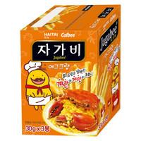卡乐比Calbee 海太佳可比薯条三兄弟蛋黄螃蟹味薯条90g  韩国进口零食 *7件