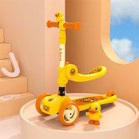 乐的(Luddy)儿童滑板车 2-8-12岁小孩宝宝可坐单脚踏二合一滑滑车溜溜车 1053小黄鸭