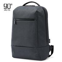 京东PLUS会员 : NINETYGO 90分 笔记本电脑包 15.6英寸 黑灰色 *2件