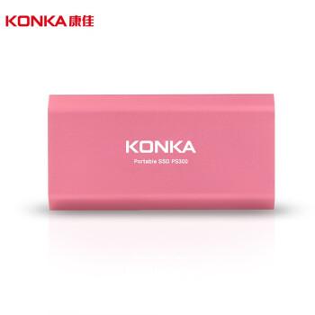 康佳(KONKA)PS300 500G PSSD粉色移动固态硬盘 Type-c/USB3.1双接口 传输速度高达550MB/s 安全便携