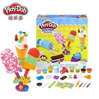 Hasbro 孩之宝 E0042 培乐多彩泥黏土创意厨房系列  冰激凌甜点套装 *3件