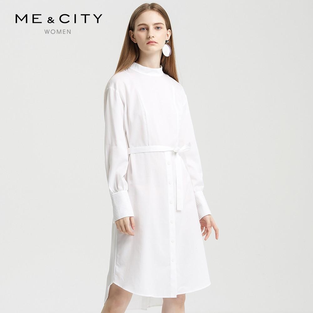 ME&CITY 544542 女装衬衫连衣裙