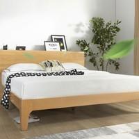 值友专享、历史低价:KUKa 顾家家居 PTDK501 北欧简约实木床 1.8m床