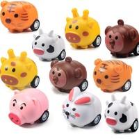 移动专享:KIDNOAM 卡通动物回力车 10只装