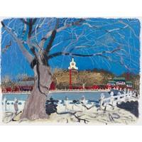艺术品:王玉平《北海10》客厅装饰画 现代中式油画 挂画 艺术版画 装裱尺寸: 54×45cm