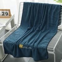 呼吸37度 家用珊瑚绒浴巾 60*120cm