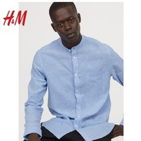 H&M 0740425 男装亚麻衬衫