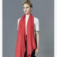 反季特卖:She's 茜子 纯色纯羊毛围巾