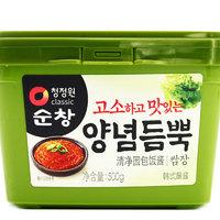 临期品:清净园 韩式包饭酱 大酱汤 500g*2盒