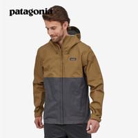 PATAGONIA 巴塔哥尼亚20新款Torrentshell男式防水潮流冲锋衣85240 COI-卡其色 M