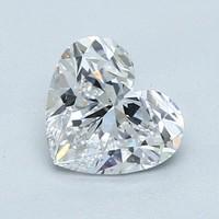 真心好礼:Blue Nile 1.01 克拉心形钻石(非常好切工 D级成色 SI2净度)