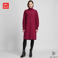 UNIQLO 优衣库 418629 柔软羊仔毛领连衣裙