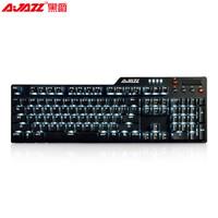 AJAZZ 黑爵 刺客Ⅱ AK35i 合金机械键盘  青轴 黑色 白光
